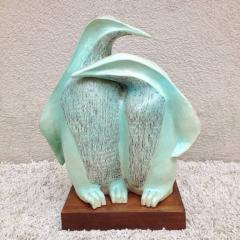 Signed Herman Ceramic Penguin Sculpture - 98538