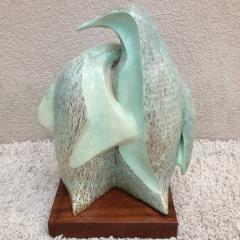 Signed Herman Ceramic Penguin Sculpture - 98542
