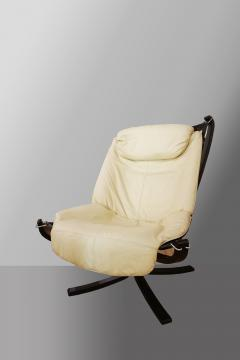 Sigurd Resell Falcon Chair 2 Armchairs with 1 foot rest - 908148