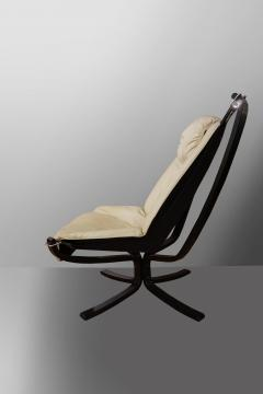 Sigurd Resell Falcon Chair 2 Armchairs with 1 foot rest - 908150