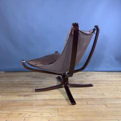 Sigurd Ressell 1970s Sigurd Ressell Low Back Leather Falcon Chair - 1322783