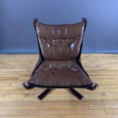 Sigurd Ressell 1970s Sigurd Ressell Low Back Leather Falcon Chair - 1322784