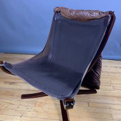 Sigurd Ressell 1970s Sigurd Ressell Low Back Leather Falcon Chair - 1322786