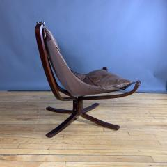 Sigurd Ressell 1970s Sigurd Ressell Low Back Leather Falcon Chair - 1322788