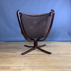Sigurd Ressell 1970s Sigurd Ressell Low Back Leather Falcon Chair - 1322789