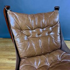 Sigurd Ressell 1970s Sigurd Ressell Low Back Leather Falcon Chair - 1322790