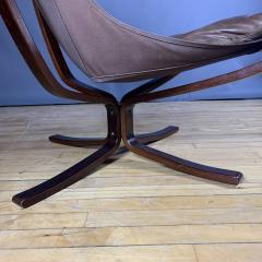 Sigurd Ressell 1970s Sigurd Ressell Low Back Leather Falcon Chair - 1322791