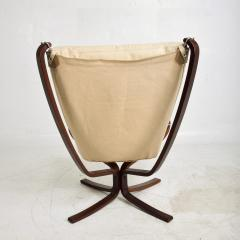 Sigurd Ressell 1970s Tall Falcon Chair Sigurd Ressell for Vatne M bler Ivory Leather NORWAY - 1589337