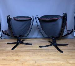 Sigurd Ressell Black and Red Falcon Chair Sigurd Ressell Vatne M bler - 1394233