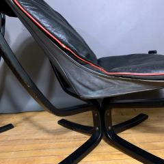 Sigurd Ressell Black and Red Falcon Chair Sigurd Ressell Vatne M bler - 1394241