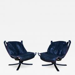 Sigurd Ressell Black and Red Falcon Chair Sigurd Ressell Vatne M bler - 1394584