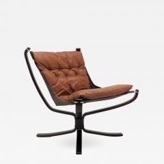 Sigurd Ressell Leather Chair Falcon by Sigurd Resell - 1005942