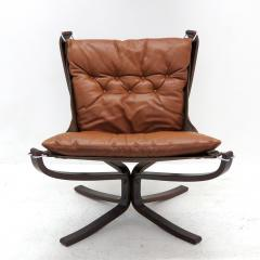 Sigurd Ressell Leather Chair Falcon by Sigurd Resell - 985338
