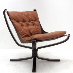 Sigurd Ressell Leather Chair Falcon by Sigurd Resell - 985339