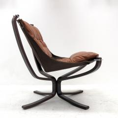 Sigurd Ressell Leather Chair Falcon by Sigurd Resell - 985340