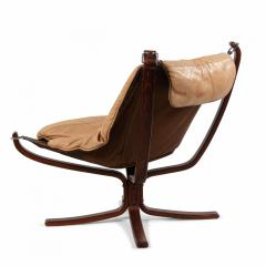 Sigurd Ressell Scandinavian Post War Beige Leather Chairs - 1439921