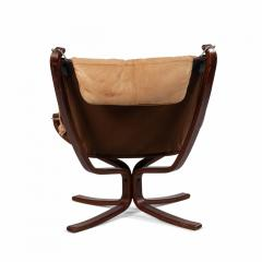 Sigurd Ressell Scandinavian Post War Beige Leather Chairs - 1439922