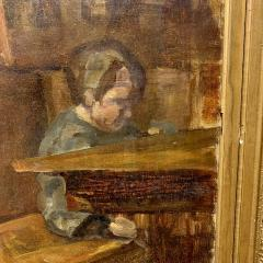 Sigurd Wandel 1875 1947 Reading Room Denmark Late 19th Century - 1555321