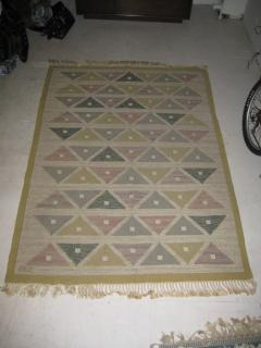 Sigvard Bernadotte Handwoven Flat Weave Carpet by Sigvard Bernadotte - 601163