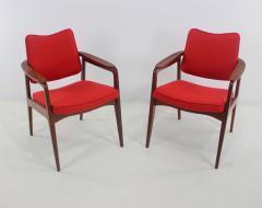 Sigvard Bernadotte Pair of Solid Teak Scandinavian Modern Armchairs Designed by Sigvard Bernadette - 983936