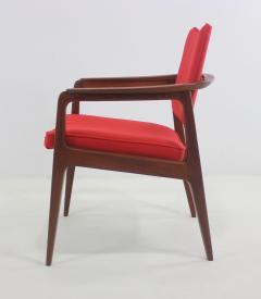 Sigvard Bernadotte Pair of Solid Teak Scandinavian Modern Armchairs Designed by Sigvard Bernadette - 983939