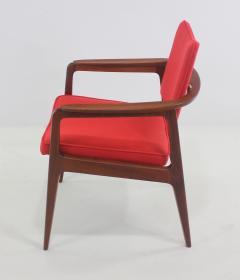 Sigvard Bernadotte Pair of Solid Teak Scandinavian Modern Armchairs Designed by Sigvard Bernadette - 983940