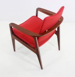 Sigvard Bernadotte Pair of Solid Teak Scandinavian Modern Armchairs Designed by Sigvard Bernadette - 983941