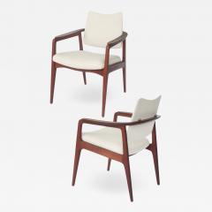 Sigvard Bernadotte Sigvard Bernadotte Teak Arm Chairs - 1699372