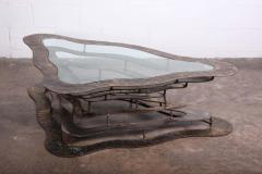 Silas Seandel Bronze and Steel Volcano Coffee Table by Silas Seandel - 2127883