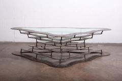 Silas Seandel Bronze and Steel Volcano Coffee Table by Silas Seandel - 2127884