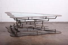 Silas Seandel Bronze and Steel Volcano Coffee Table by Silas Seandel - 2127888