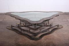 Silas Seandel Bronze and Steel Volcano Coffee Table by Silas Seandel - 2127889