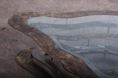 Silas Seandel Bronze and Steel Volcano Coffee Table by Silas Seandel - 2127892