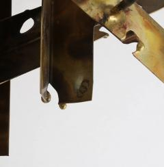 Silas Seandel Brutalist 1970s Wall Sculpture in Patinated Brass and Copper by Silas Seandel - 528390