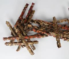 Silas Seandel Brutalist 1970s Wall Sculpture in Patinated Brass and Copper by Silas Seandel - 528391