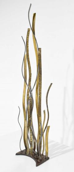 Silas Seandel Large Signed Silas Seandel American b 1937 Mixed Metal Sculpture dtd 1974 - 1660822