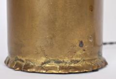 Silas Seandel Substantial Silas Seandel Torched Mixed Metal Brutalist Table Lamp 1974 - 1603402