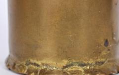 Silas Seandel Substantial Silas Seandel Torched Mixed Metal Brutalist Table Lamp 1974 - 1603420