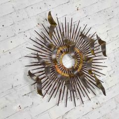 Silas Seandel Torch cut brass birds on starburst nail wall art style silas seandel - 1938863