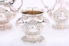 Silver Plate Five Piece Tea Coffee Service - 1964749