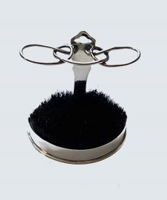 Silver Quill Pen Stand Nib Brush Wipe London 1902 William Comyns - 1979889
