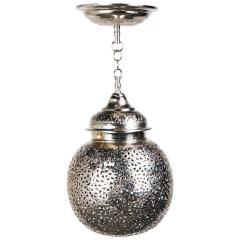 Silver Round Modern Moroccan Pendant or Chandelier a Pair - 1604441