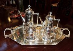 Silver Tea Coffee Set WMF Art Nouveau with Tray - 1342774