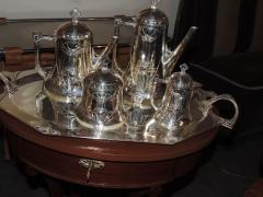 Silver Tea Coffee Set WMF Art Nouveau with Tray - 1342775
