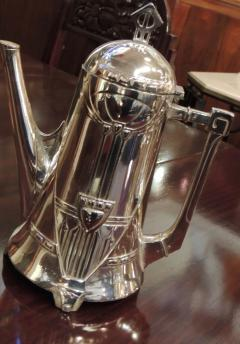 Silver Tea Coffee Set WMF Art Nouveau with Tray - 1342776