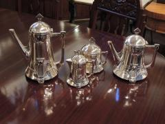 Silver Tea Coffee Set WMF Art Nouveau with Tray - 1342781