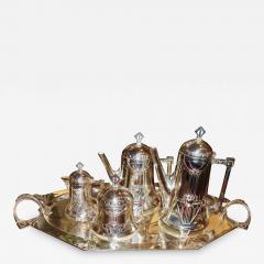 Silver Tea Coffee Set WMF Art Nouveau with Tray - 1344402