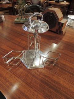 Silver and Glass Swingout Tantalus - 1418342