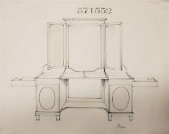 Silver fitted dressing table - 803779
