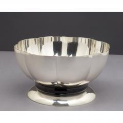 Silvered Bowl by Orfevrerie Gallia France 1930s - 1083725
